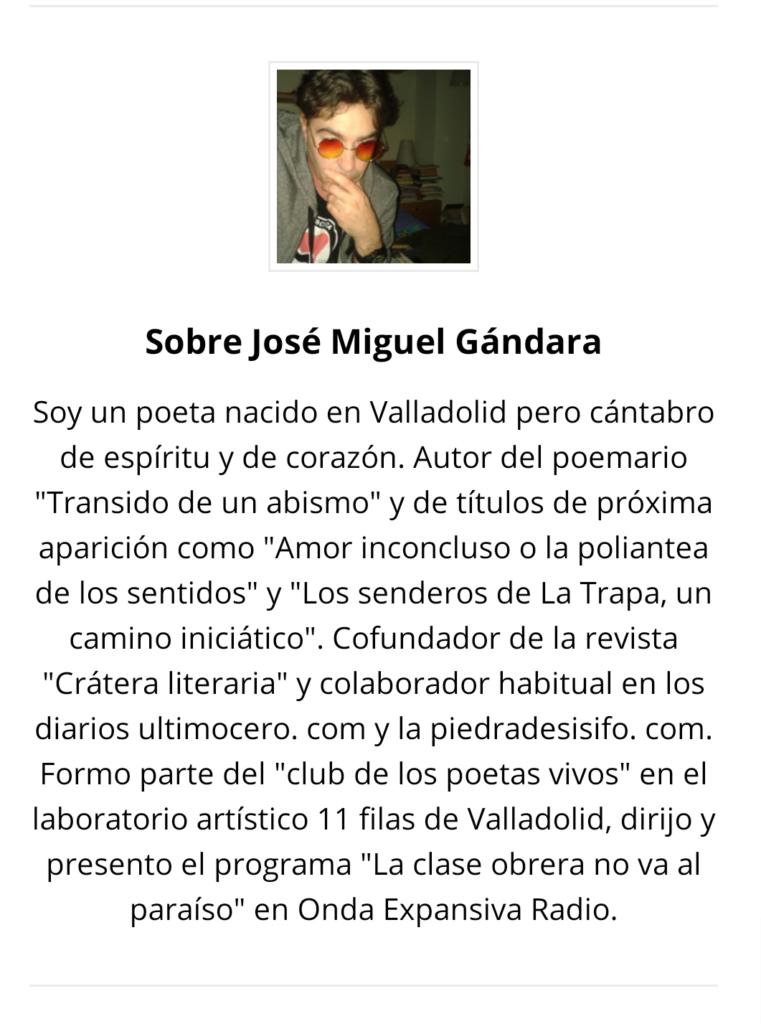 Foto de J. Miguell Gándara y breve biografía