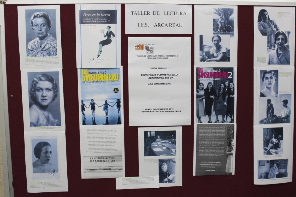 """Panel informativo con las imágenes de """"Las sisombrero"""""""